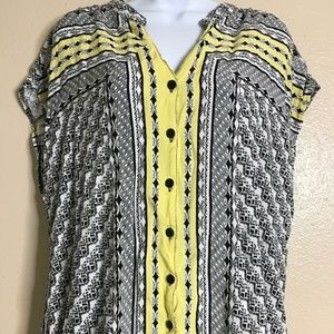 Cato Women's Size 18/20 Cap Sleeve Button Front